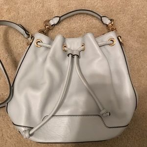 Rebecca minkoff light blue bucket bag